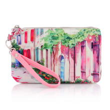 Lady Fashion Printed Cotton Canvas Toiletry Wash Cosmetic Pouch (YKY7531-1)