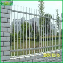 2-Rail flat top powder coated zinc steel fence for sale