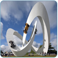 Modern Style Large Garden Stainless Steel Sculpture