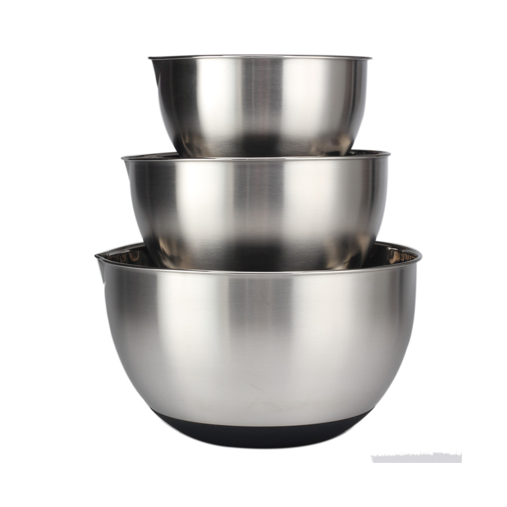 Kitchen Accessories Stainless Steel Salad Bowl Set