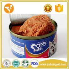 Comida de gato Alimento em lata enlatada de alho inteiro Alimentos enlatados para gatos