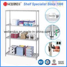 Rack de prateleiras de arame cromado NSF para móveis de metal do escritório