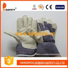 Pig Grain Leather Safety Glove Ce Work Gloves DLP535