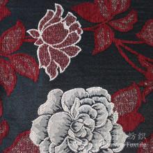 Tela tingida fio do Chenille da neve da flor do jacquard para a casa
