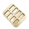 8 filiżanek non-stick Gold Rectangle Cake Mold