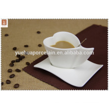 heart shape ceramic coffee cup for hotel