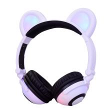 Glowing Panda Ear Bluetooth Headphone with Micro