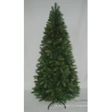 PE Árbol de Navidad artificial realista con luz de cadena Decoración multi LED de color (AT2117)