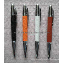 Metall-Leder-Kugelschreiber als Business-Geschenk (LT-C255)