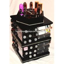 Make-up Kosmetik Holder Storage Spinning Counter Top 4-Wege 72 Taschen Acryl 80 Lippenstifte Organizer