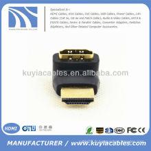 Connecteur d'adaptateur HDMI Mini HDMI de 90 degrés Male to Female