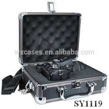 high quality aluminum camera flight case with custom foam insert