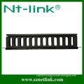 "19 Inch 1U"" rack mount horizontal cable management"