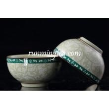 Pequeno, dinastia, flor, desenho, chá, copo, logotipo