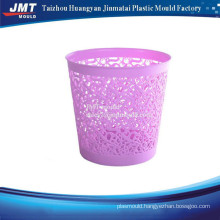 Round injection trash bin plastic moulds