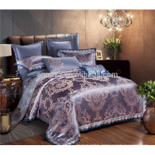 Luxury Jacquard Embroidery Satin Wedding Bedding Set Queen Size