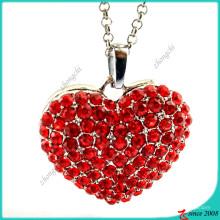 Bijoux Collier en coeur en alliage en pierre rouge (FN16041806)