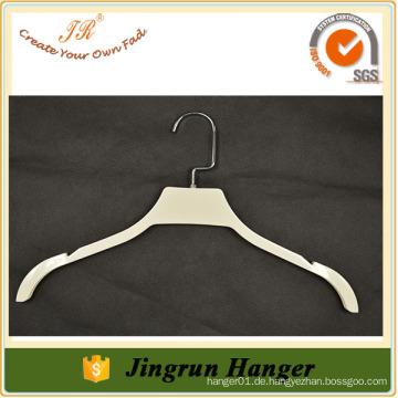 Heißer Verkauf weißer Beschichtungsplastikaufhänger schöner Kleiderbügel