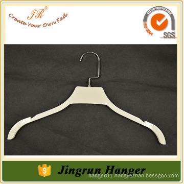 Hot sale White coating plastic hanger beautiful dresses hanger