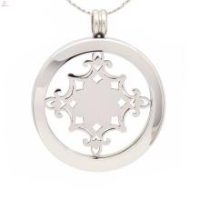Hochwertige Halskette mit Münze, Münzanhänger Halter