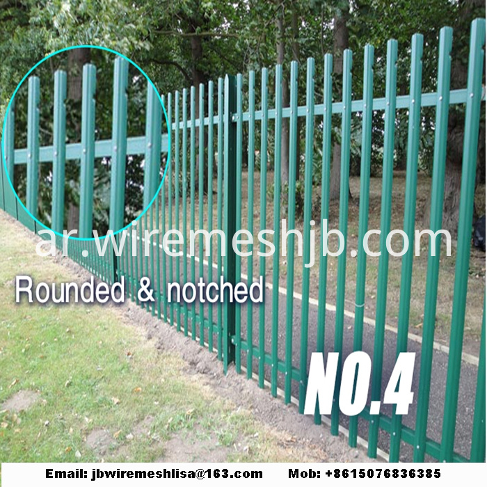 Powder Coated And Galvanized Steel Palisade Fence