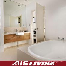 Vanidad montada en la pared de los gabinetes de cuarto de baño de la chapa para el apartamento (AIS-B006)