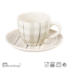 3oz Tea Set Hand Painted Elegant Design