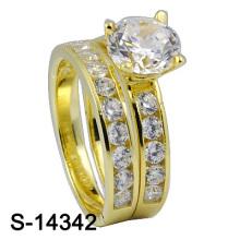 Самое последнее обручальное кольцо стерлингового серебра способа 925 (S-14342)