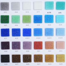 Épaisseur petite taille Mosaïque en verre bleu carré de 4 mm pour la conception de la piscine