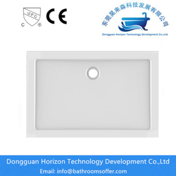 Rectangular acrylic shower tray