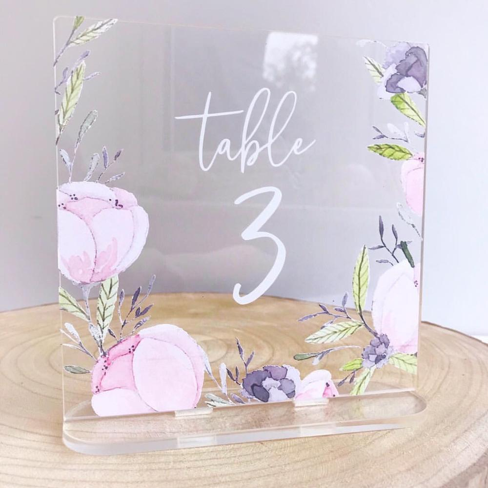Acrylic Wedding Table Number Sign
