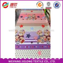 Bear Soccer Baby cheap printing 100 % cotton bedding fabric