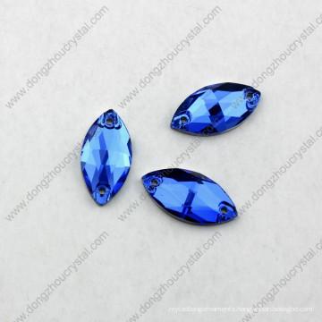 Horse Eyes Shape Sew on Glass Stone for Bride Dress Crystal Ab Dz-3066