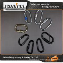 Fabricante directamente de suministro mosquetón de acero inoxidable/ mosquetón de Escalada/giratoria mosquetón gancho