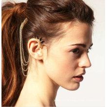 Écriture suspendue Écouteur intra-auriculaire Écrou d'oreille avec bonnets en peigne Boucles d'oreilles bijoux EC36