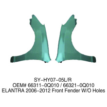 Aftermarket Auto front fender Replace for Hyundai Elanrta 2006-2012