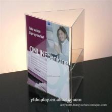Clear Acrylic Menu Holder For Restaurant