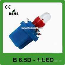 Red color B8.5D auto led instrument lights