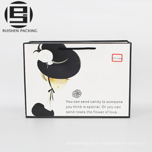 Cosmetic white packing paper bags for girls