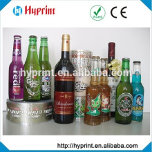 Custom clear stickers for glass bottle and water bottle