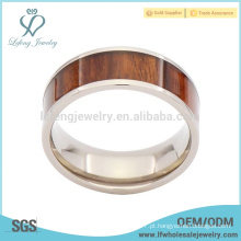 Nice grão de madeira de titânio anel de casamento para os homens