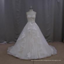 Pretty slim pretty a line jewel beaded short front long back wedding dress