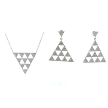 Newest Design for Woman 925 Silver Jewelry Sets (S3318)