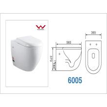 WC suspendido de la pared sin la cisterna. (CVT6005)