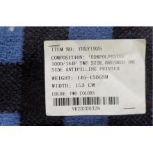 Polyester Fdy Printing Micro Fleece Tissu deux côtés