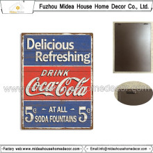Décoration intérieure en bois Plaque murale en métal de style Coca-Cola