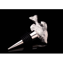 Рыба форма позолоченный металл бутылку пробкой (GZHY-БС-022)