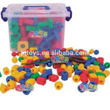 Hotsale embroma el plástico que enrosca los juguetes del material del bloque hueco