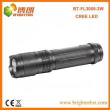 Factory Sale хорошее качество Алюминиевый карманный размер 3watt Cree небольшой мощный светодиодный фонарик с 3AAA батареи