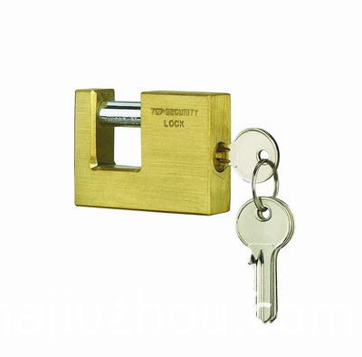 Security Brass Rectangle Padlock
